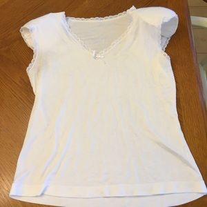 Shadowline white camisole medium w/ shoulder pads